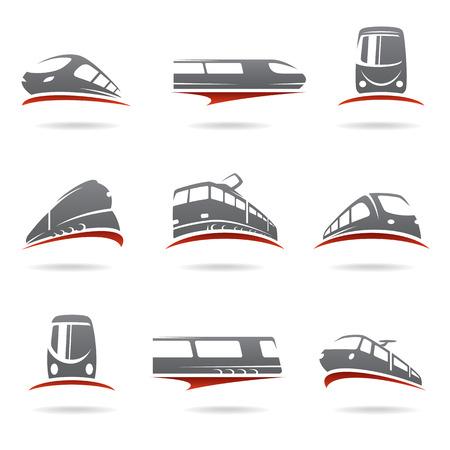 Wektor zestaw pociągu Ilustracje wektorowe