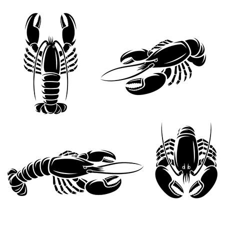 lobster: Lobster set  Vector