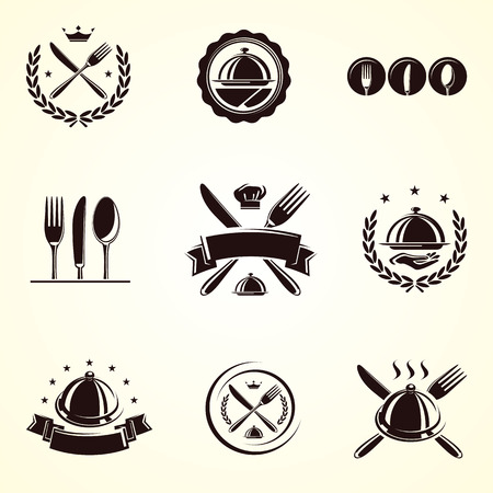 Restaurant labels set  Vector Vector