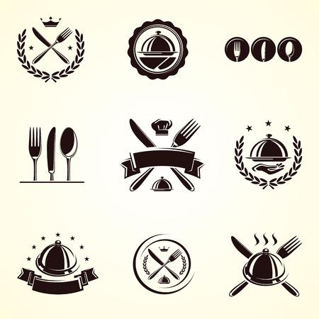 Restaurant labels set  Vector Illusztráció