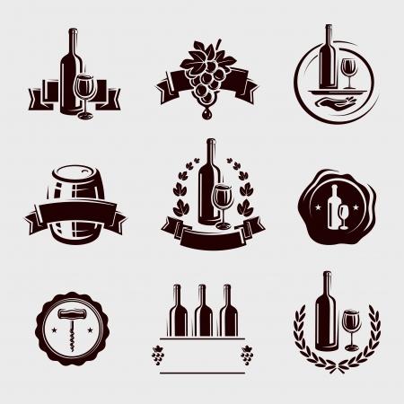 wine making: Wine labels set  Vector