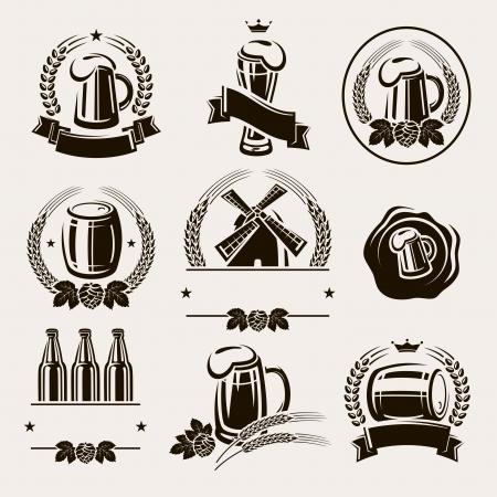 Beer labels set  Vector Vector