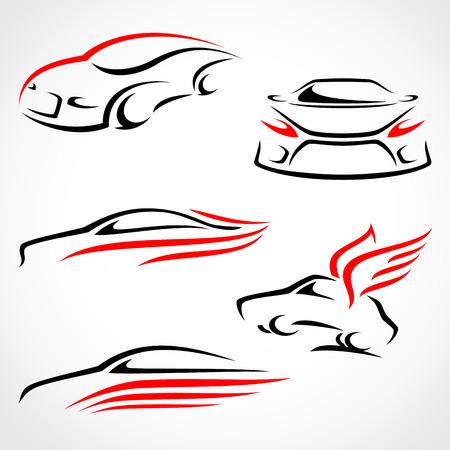 Carros abstrato vector set
