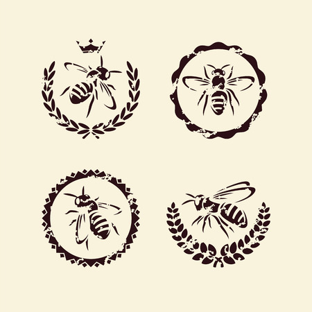 bee hive: bee set  Vector