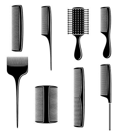 plastic comb: combs set  Vector  Illustration