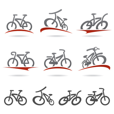 bicycle silhouette: Bicycle set  Vector
