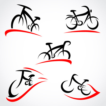 bicycle icon: Bicycle set  Vector