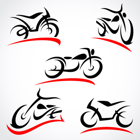 Motorcycles set Stock Illustratie