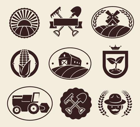 Farm labels set Иллюстрация