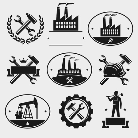 manufacturing plant: Industrial label set
