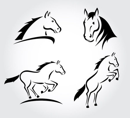 állat fej: Ló be Vector Illusztráció
