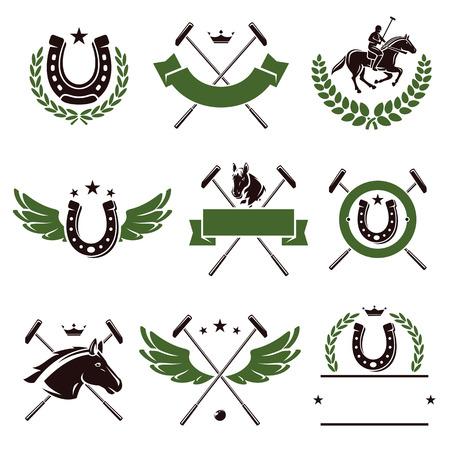 Horse and polo set  Vector