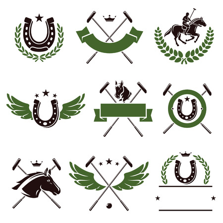 Horse and polo set  Vector