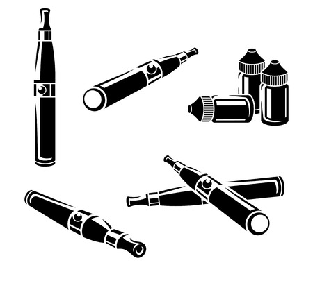 Electronic cigarettes set.
