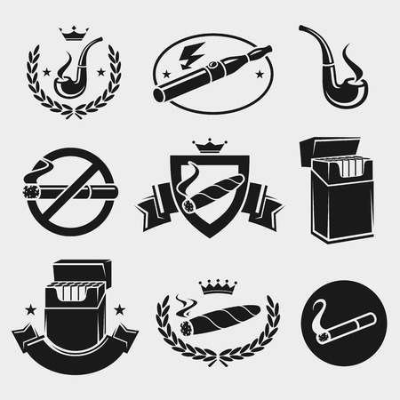 cigarette pack: Cigarettes set.