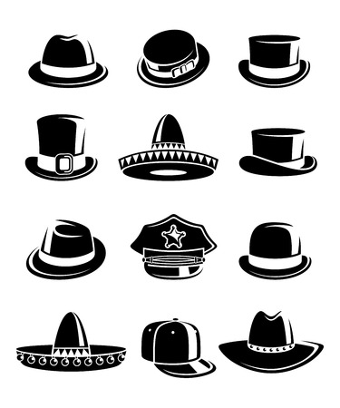 derby hats: Hats collection set.