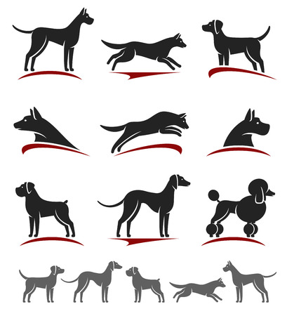 Dogs set. Stock Vector - 33001146