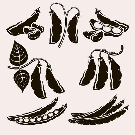 Beans set. Vector Ilustração
