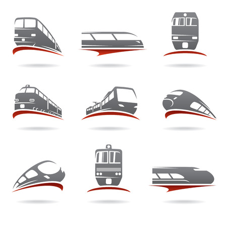 estacion de tren: Conjunto de tren. Vectores