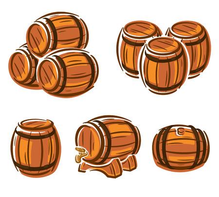 wood craft: Barrels set.