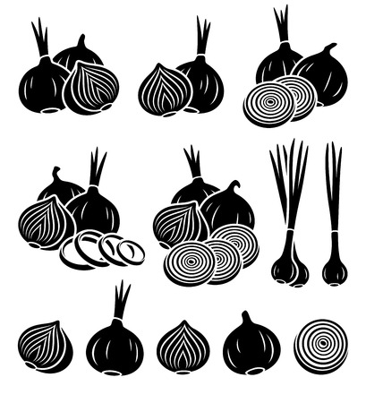 halved: Onion set.