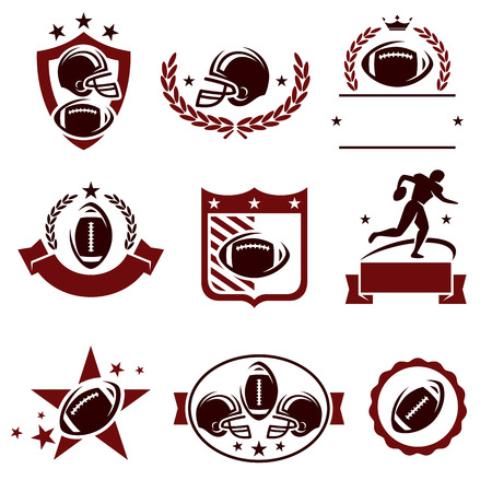 Football labels and icons set. Vector Vector