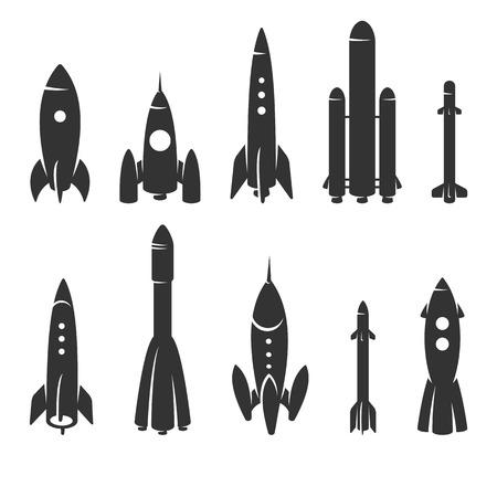 Rockets collection set. Vector Vector