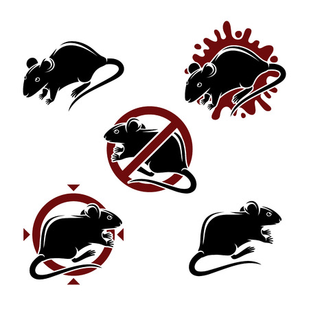 mouse icon: Mouse animals set. Vector