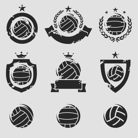 water polo labels and icons set. Vector Vector