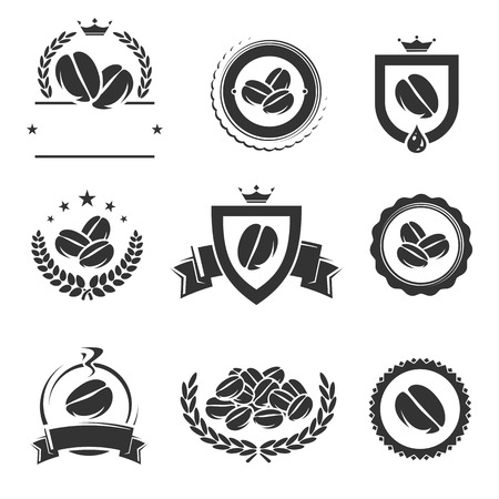 Coffee labels and icons set. Vector Vector