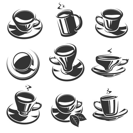 Tea set. Vector Vector