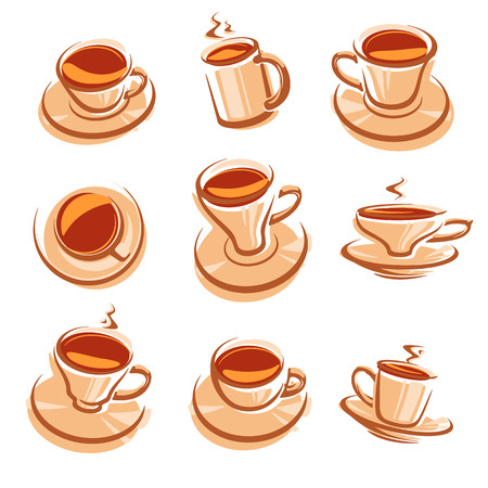 tea set: Tea set. Vector