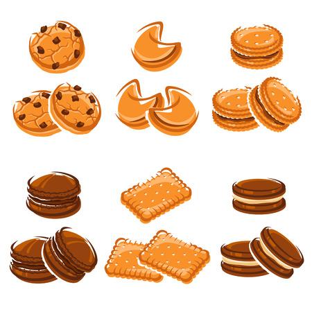 クッキーを設定します。  イラスト・ベクター素材