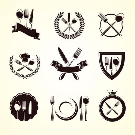 Restaurant labels set. Vector Vector