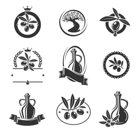 Olive labels set. Vector