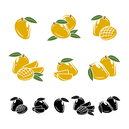 Mango set. Vector Illustration