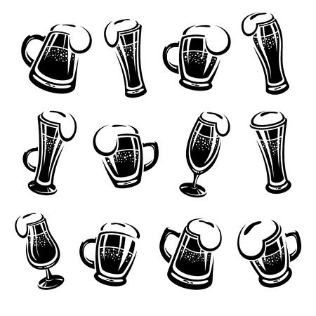 Beer set. Vector illustration drink