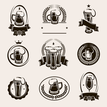 taverns: Beer labels set. Vector