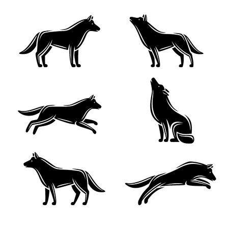black wolf: Wolf set