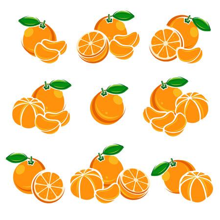 Mandarin eingestellt. Farbe saftig Saft Marmelade natürliche