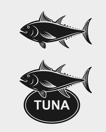 sea water: Tuna set. sea water wave ocean