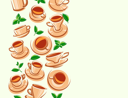 Tea background. Vector illustration pattern