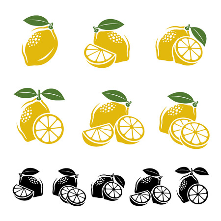 Lemon set. Vector