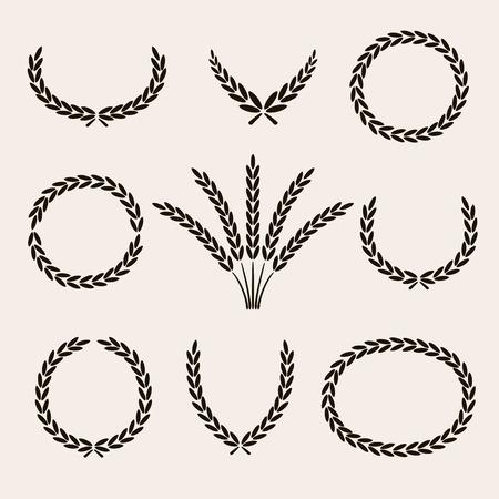 wreaths: Wreaths set. Illustration