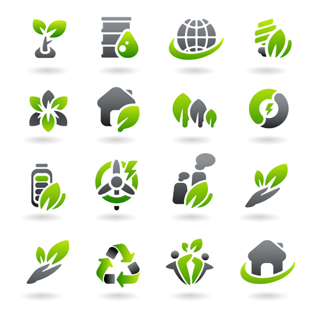 antipollution: Collection ecology icons. Vector