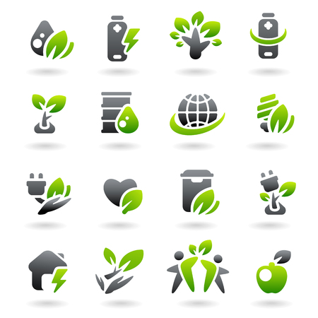 biodiesel: Collection ecology icons. Vector
