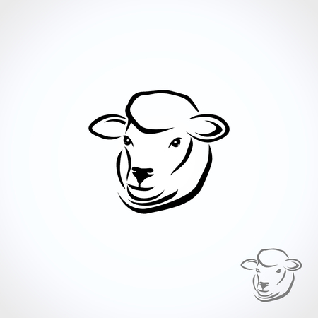 Owiec i jagniąt. Wektor
