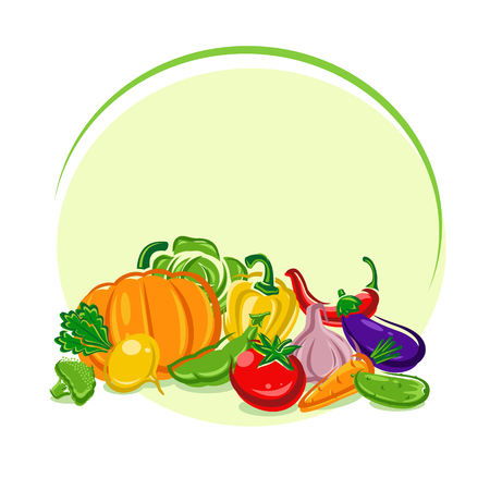 corne: Vegetables background. Vector Illustration