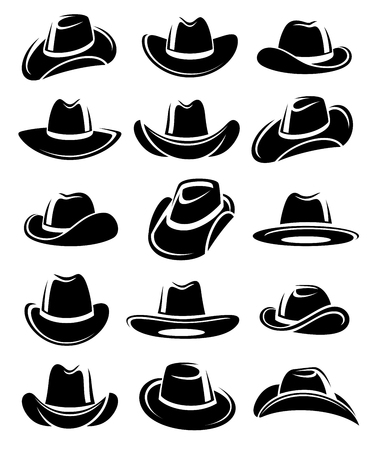 Cowboy hat set. Vector