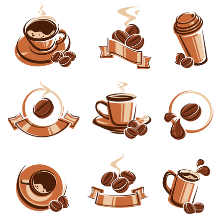 Coffee labels and icons set.